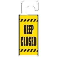 Door Knob Hangers - Keep Closed