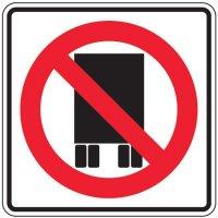 Reflective No Semi-Trucks Signs