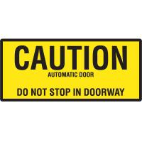Automatic Door Signs - Caution Automatic Door