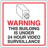 CCTV Warning Signs - 24 Hr Surveillance