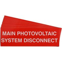 """Main Photovoltaic System Disconnect"" Solar Warning Labels"