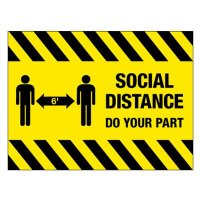 Temporary Social Distancing Floor Sign