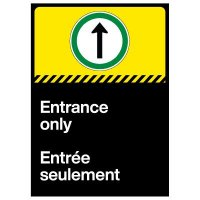 Entrance Only Decal - French/English