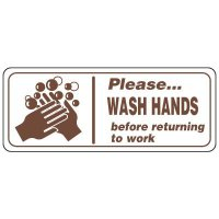 Restroom Signs - Please Wash Hands