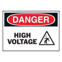 Graphic On-The-Spot Labels - High Voltage