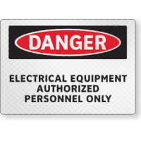 FireFly Reflective Safety Signs - Danger - Electrical Equipment