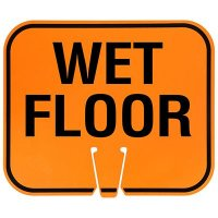 Arrow Sign Snap-On Cone Sign - Wet Floor WETF