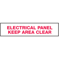 Electrical Marker Value Pack - Electrical Panel Keep Area Clear