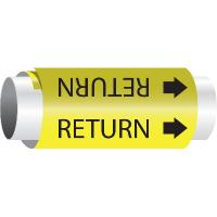 Setmark® Snap-Around Pipe Markers - Return