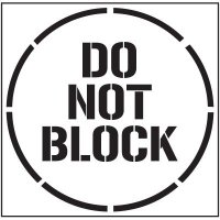 Floor Stencils - Do Not Block
