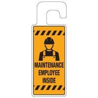 Door Knob Hangers - Maintenance Employee Inside