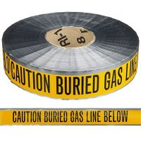 Underground Detectable Warning Tape - Caution Buried Gas Line Below