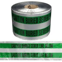 Underground Detectable Warning Tape - Caution Buried Sewer Line Below