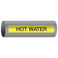 Xtreme-Code™ Self-Adhesive High Temperature Pipe Markers - Hot Water