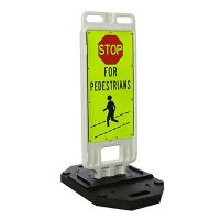 TrafFix Devices Stop For Pedestrians Crosswalk Safety Signs