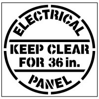 Pavement Tool Floor Stencils - Electrical Panel Keep Clear For 36in. S-553102