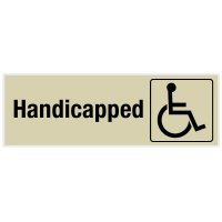 Handicapped - Engraved Rest Room Signs