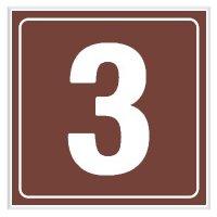 3 - Engraved Door Number Signs