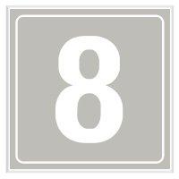 8 - Engraved Door Number Signs