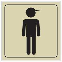 Boy Symbol - Engraved Graphic Restroom Signs