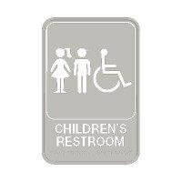 Children's Restroom Signs - Wheelchair Accessible