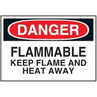 Chemical Labels - Flammable Keep Flame And Heat Away