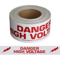 Danger High Voltage Tape