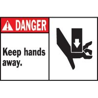 Machine Warning Labels - Danger Keep Hands Away