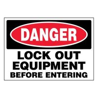 Ultra-Stick Signs - Danger Lock Out Equipment