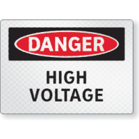 FireFly Reflective Safety Signs - Danger - High Voltage