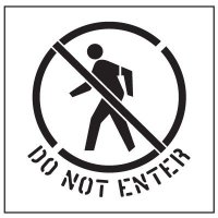 Floor Stencils - Do Not Enter