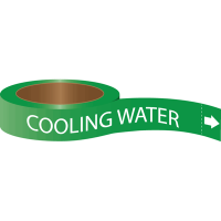 Roll Form Self-Adhesive Pipe Markers - Cooling Water