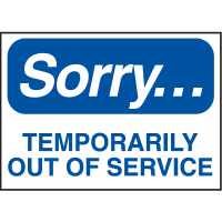 Magnetic Housekeeping Signs - Temporarily Out of Service