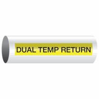 Opti-Code™ Self-Adhesive Pipe Markers - Dual Temp Return