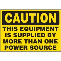Electrical Safety Labels On-A-Roll - Caution More Than One Power Source