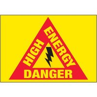 Electrical Warning Labels - High Energy Danger