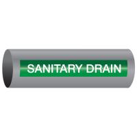 Xtreme-Code™ Self-Adhesive High Temperature Pipe Markers - Sanitary Drain