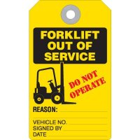 Forklift Out Of Service Tag