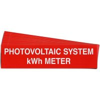 """Photovoltaic System kWh Meter"" Solar Warning Labels"