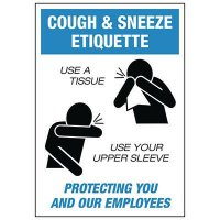 Cough & Sneeze Etiquette Label