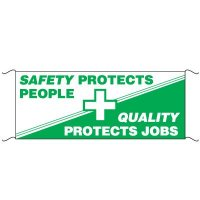Safety Banners - Safety Protects People