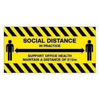 Temporary Social Distance in Practice Floor Sign