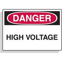 Fiberglass OSHA Signs - Danger - High Voltage
