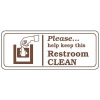 Restroom Signs - Keep Restroom Clean