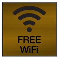 Free Wi-Fi - Engraved Wi-Fi Signs