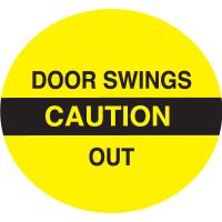 Caution Door Swings Out Safety Door And Window Decals