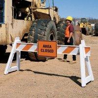Barricade Sign - Area Closed