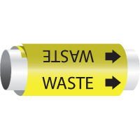 Setmark® Snap-Around Pipe Markers - Waste