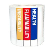 LabelTac™ RTK Color Bar Die-Cut Regulatory Labels LT435BAR