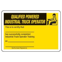 Qualified Truck Operator Certification Card - Wallet Size